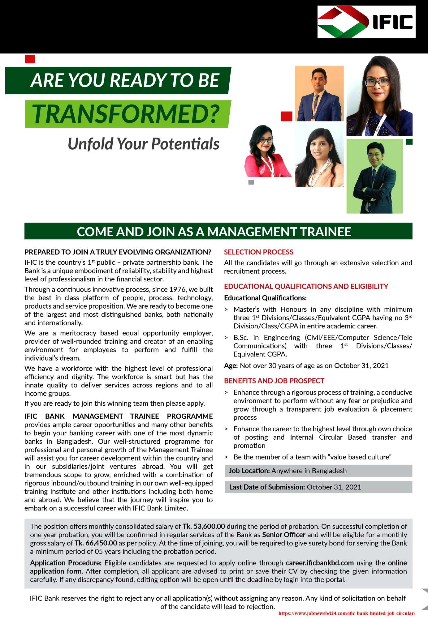 IFIC Bank MTO Application